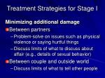 treatment strategies for stage i1