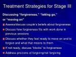 treatment strategies for stage iii1