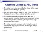 access to justice calc view