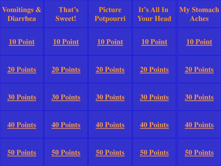 Ppt jeopardy rules powerpoint presentation id5085616 vomitings urtaz Choice Image