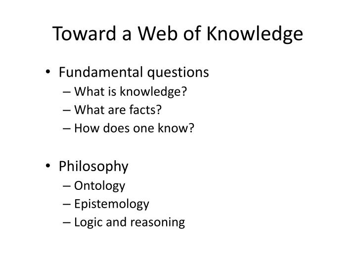 Toward a web of knowledge