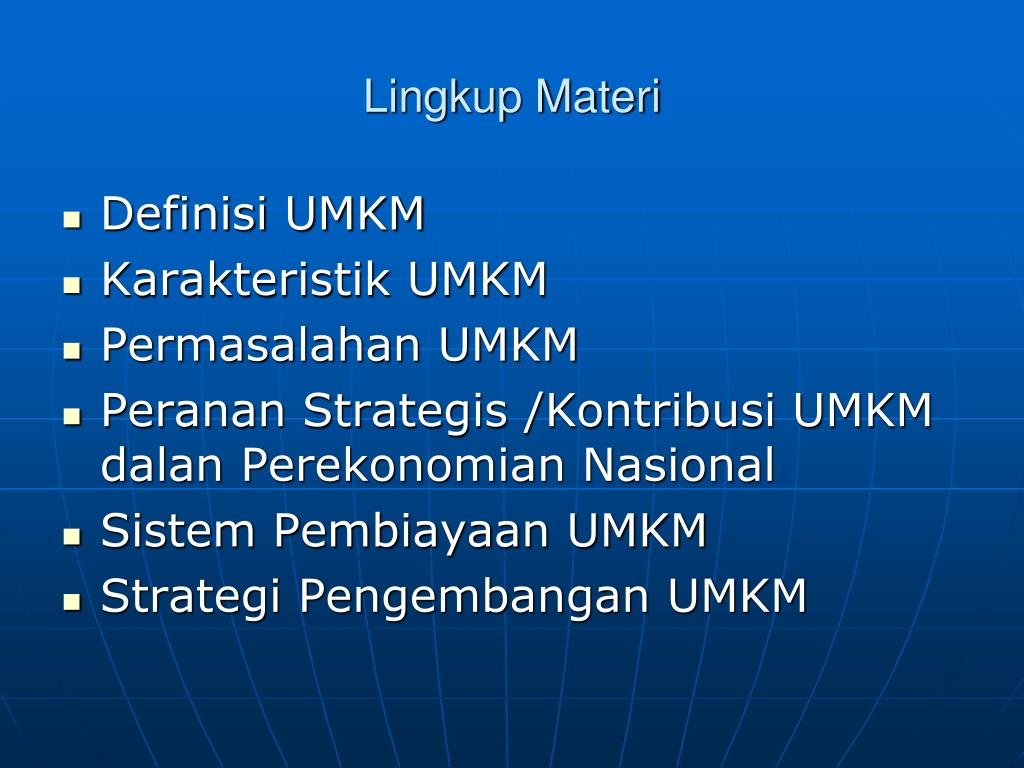 PPT - USAHA MIKRO, KECIL, DAN MENENGAH (UMKM) PowerPoint ...