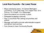 local area councils the lower house