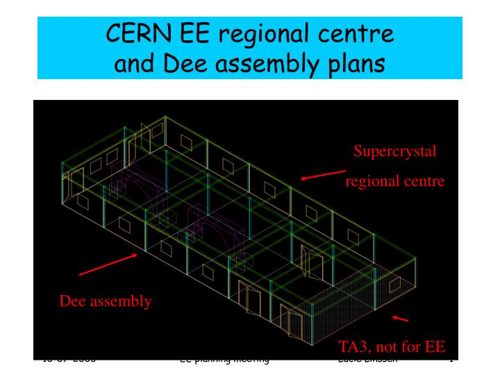 cern ee regional centre and dee assembly plans n.