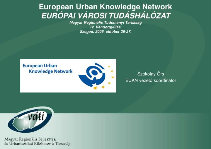 European Urban Knowledge Network