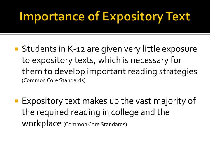 Importance of Expository Text
