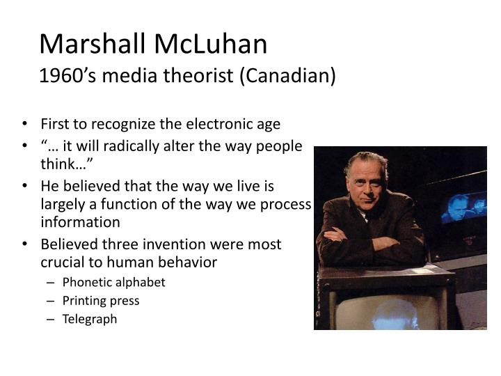 understanding marshall mcluhans theories