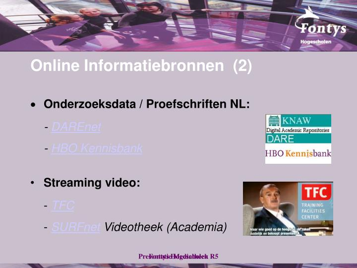 Online Informatiebronnen  (2)