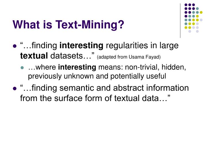 what is text mining n.