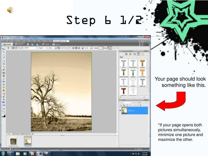 Step 6 1/2