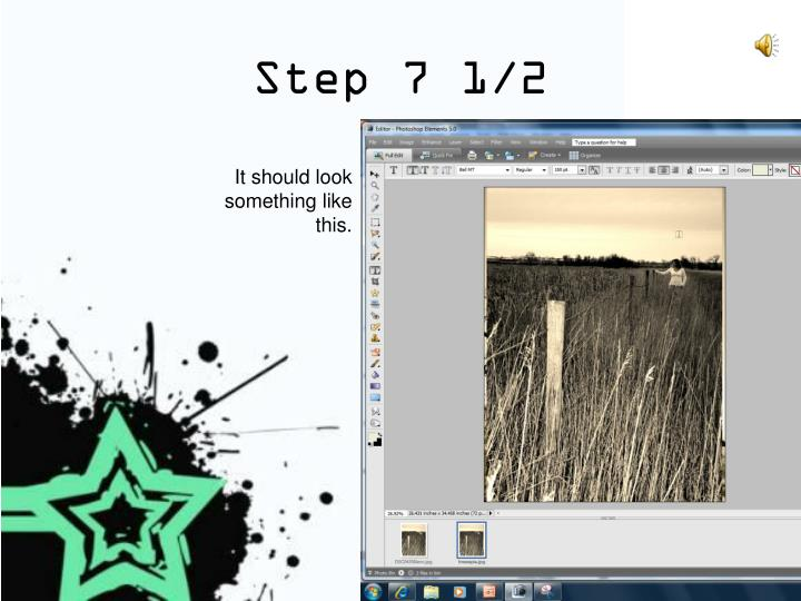 Step 7 1/2