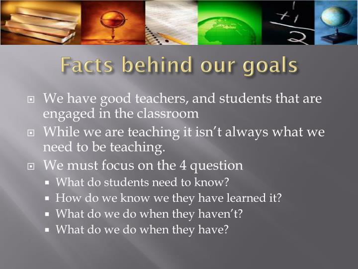 Facts behind our goals