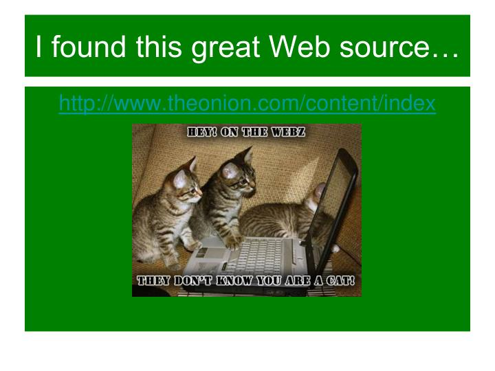 I found this great Web source…