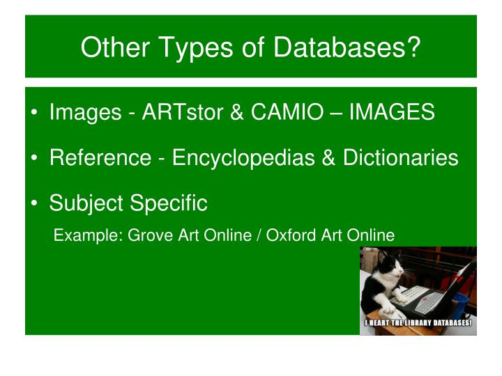 Other Types of Databases?