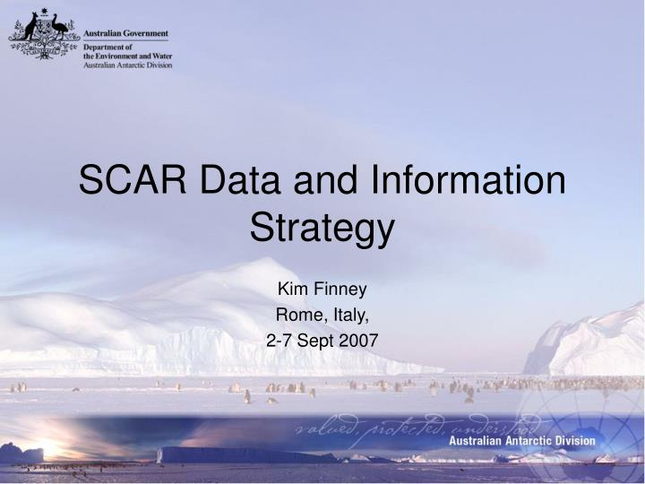 Scar data and information strategy