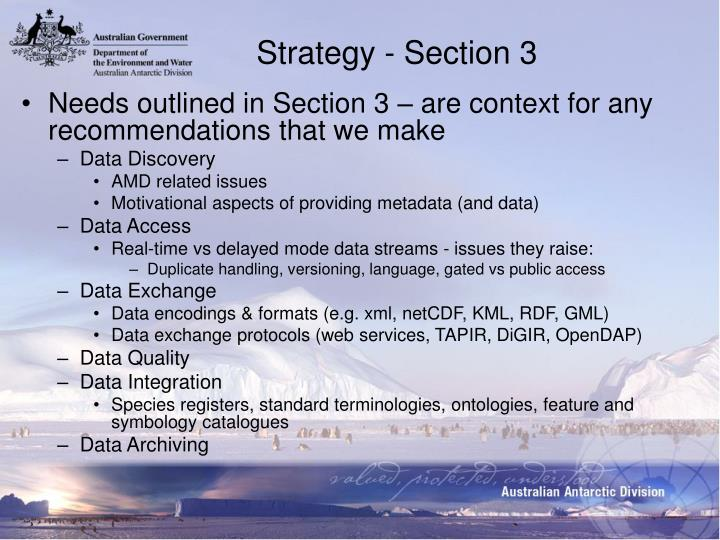 Strategy - Section 3