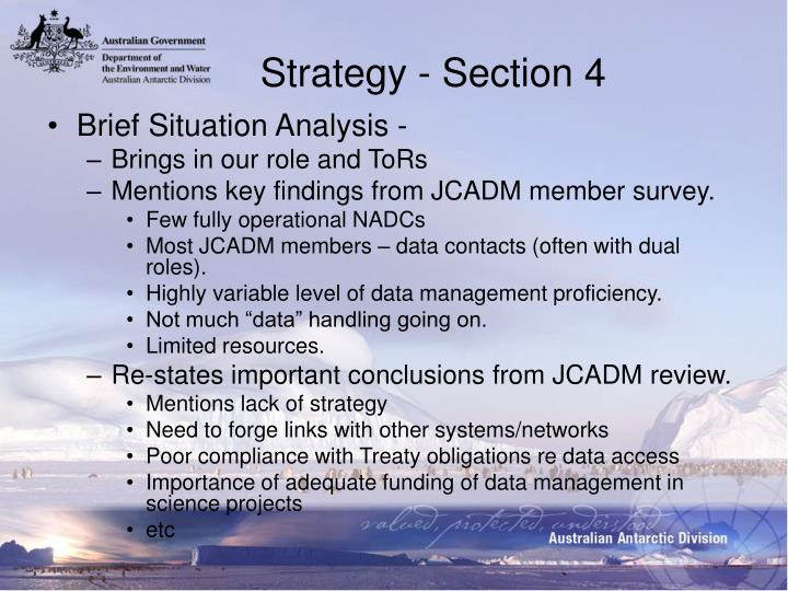 Strategy - Section 4