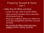 preparing yourself home page 9