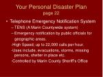 your personal disaster plan page 22