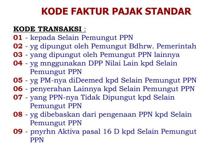 Ppt Faktur Pajak Standar Powerpoint Presentation Id 5086544