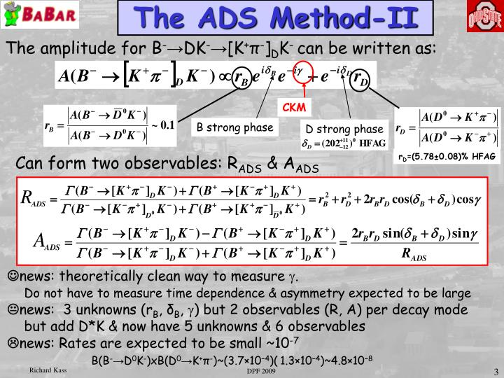 The ADS Method-II