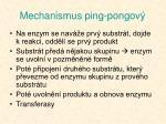 mechanismus ping pongov