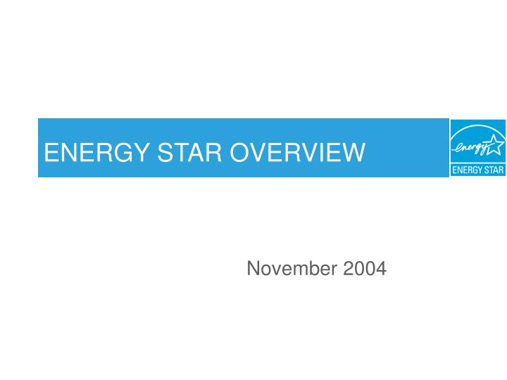 energy star overview n.