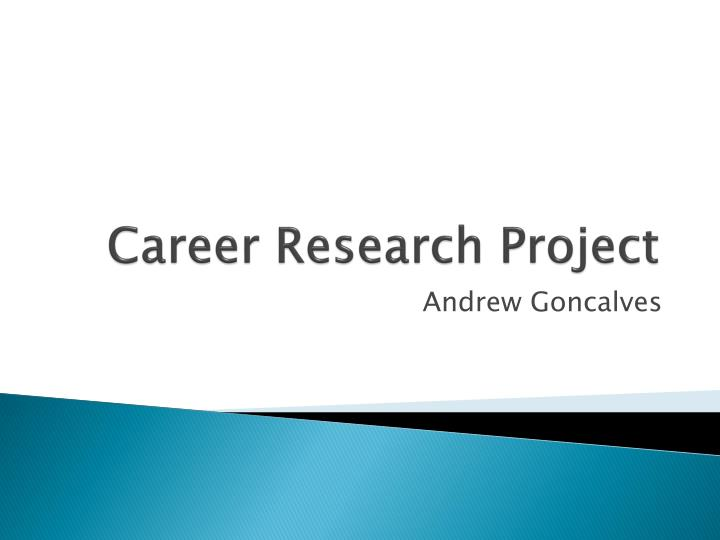 career research project n.