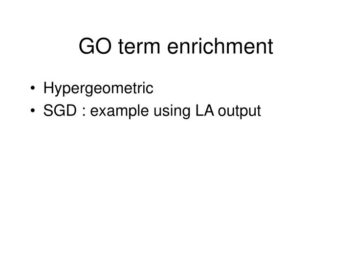 GO term enrichment