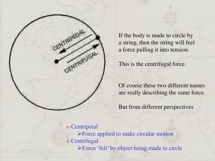 If the body is made to circle by