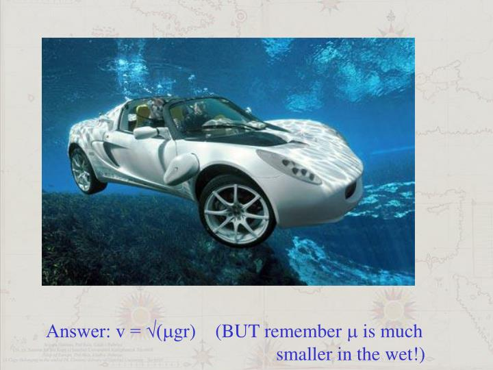 Answer: v = √(