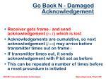 go back n damaged acknowledgement