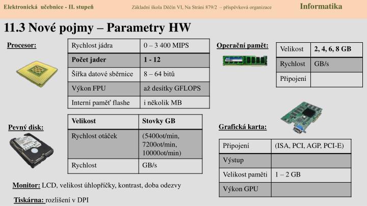 11 3 nov pojmy parametry hw