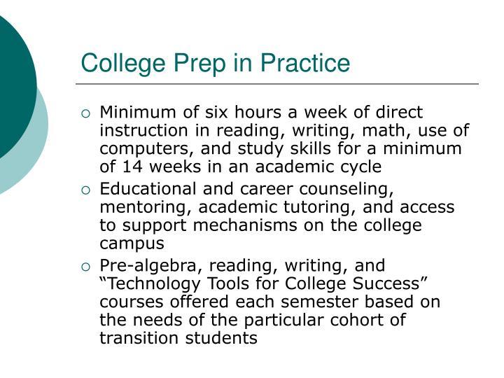 College Prep in Practice