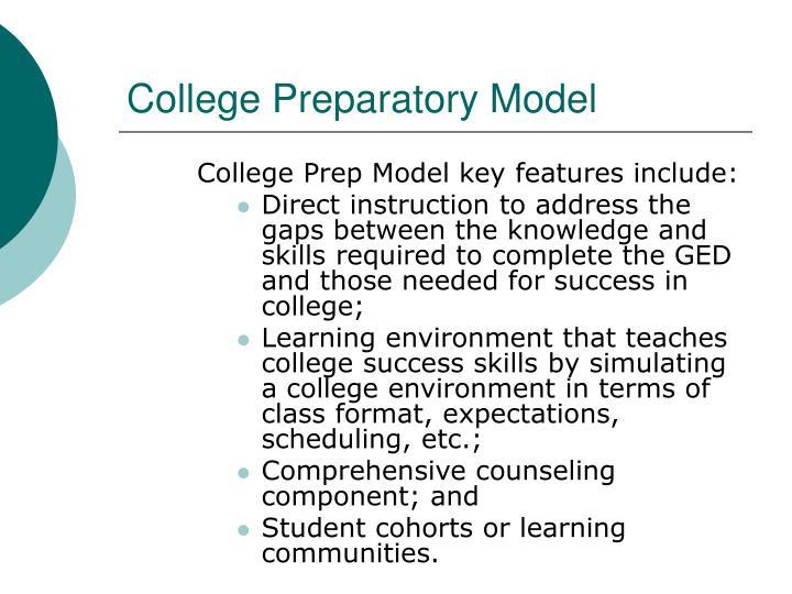 College Preparatory Model