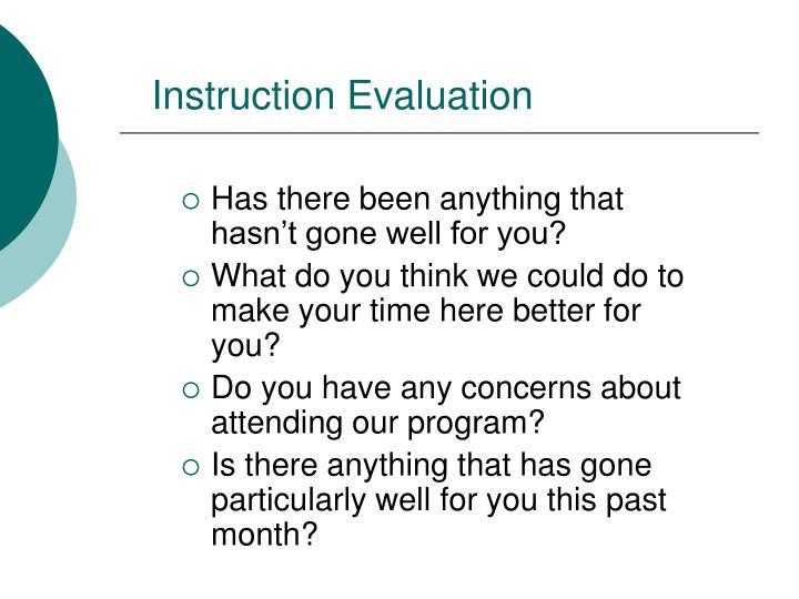 Instruction Evaluation