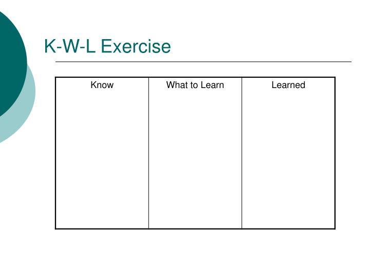 K-W-L Exercise