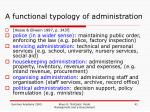 a functional typology of administration