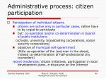 administrative process citizen participation