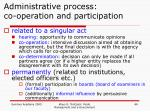 administrative process co operation and participation