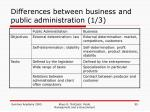 differences between business and public administration 1 3