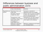 differences between business and public administration 3 3