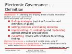 electronic governance definition