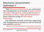 electronic government definition i