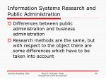 information systems research and public administration1