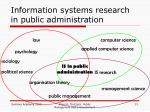 information systems research in public administration2