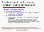 institutions of public admin istration public corporations