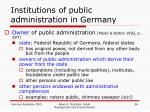 institutions of public administration in germany1