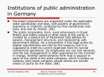 institutions of public administration in germany5