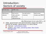 introduction sectors of society